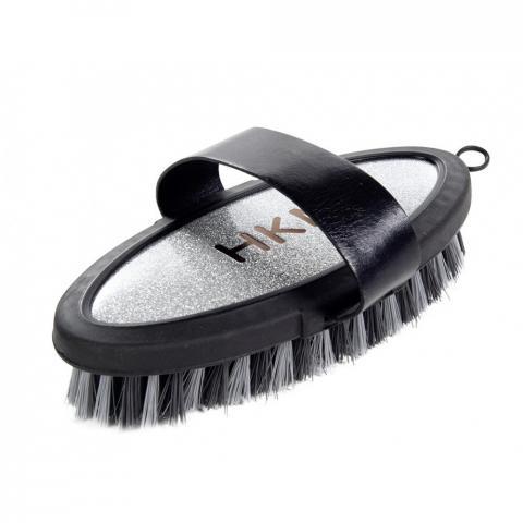 Szczotka owalna HKM Soft Touch czarno-srebrna