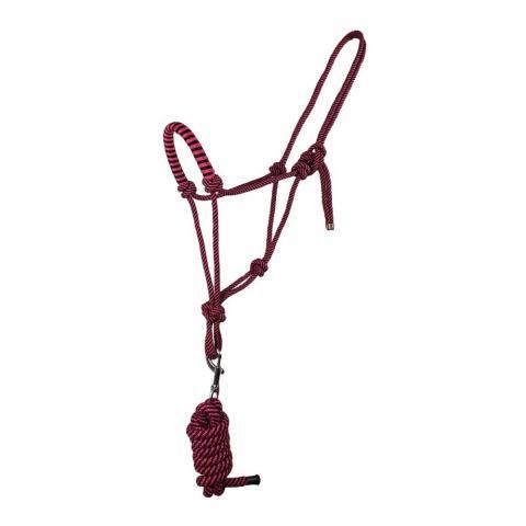 Kantar sznurkowy z uwiązem QHP różowy