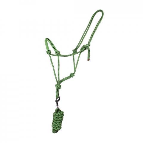 Kantar sznurkowy z uwiązem QHP zielony