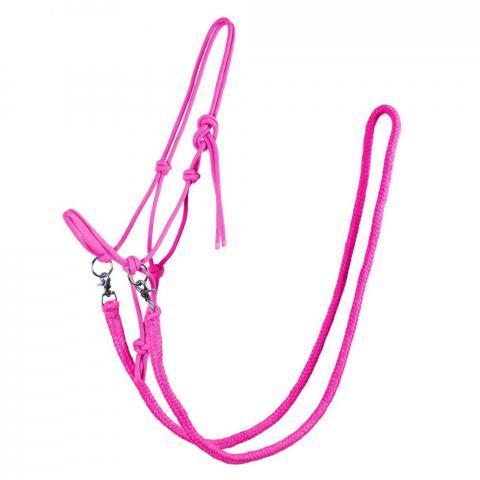 Kantar sznurkowy z wodzami QHP różowy