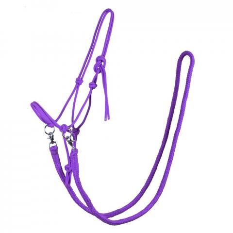 Kantar sznurkowy z wodzami QHP fioletowy