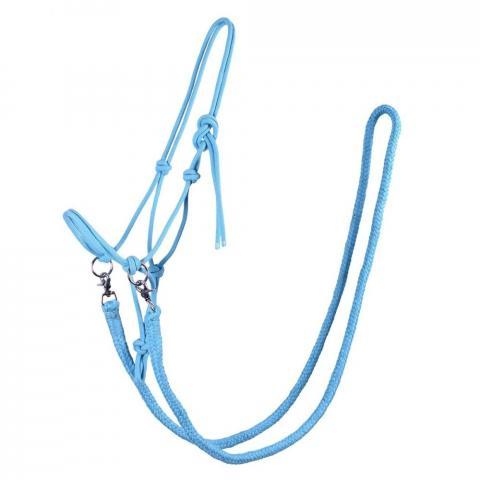 Kantar sznurkowy z wodzami QHP niebieski