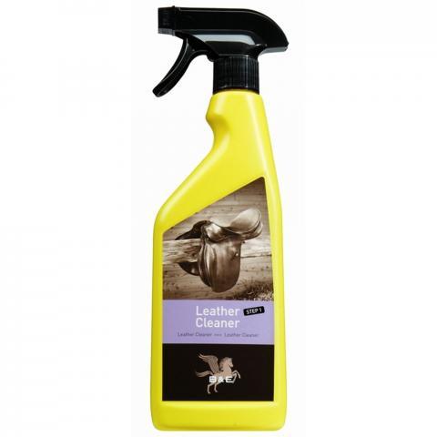 Mydło w sprayu do skór B&E Leather Cleaner Step 1