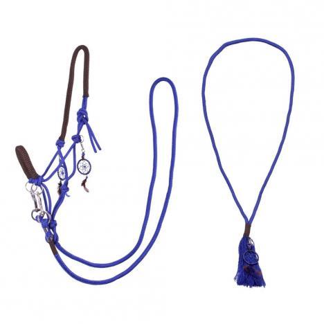 Kantar sznurkowy z wodzami i liną balansową cordeo QHP kobaltowy