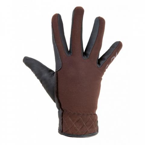 Rękawiczki zimowe HKM Velluto brązowe