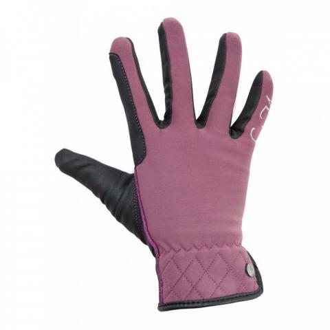 Rękawiczki zimowe HKM Velluto bordowe