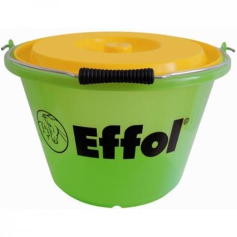 Wiadro z pokrywką Effol zielono-żółte