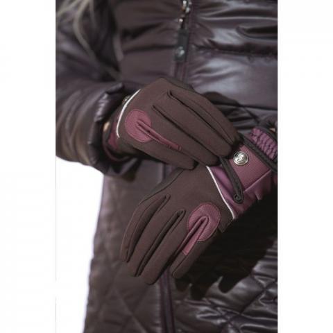 Rękawiczki zimowe HKM Odello brązowe