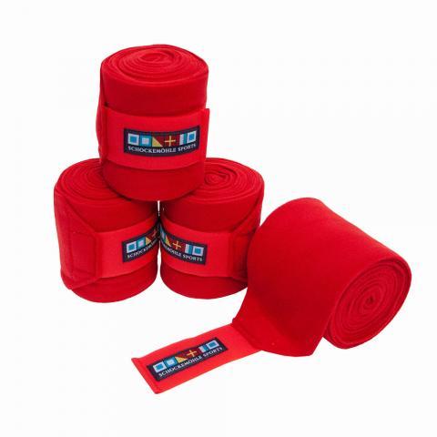 Bandaże polarowe Schockemohle czerwone