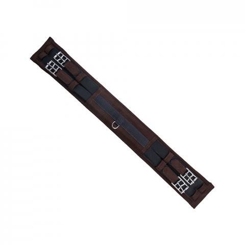 Popręg syntetyczny ujeżdżeniowy prosty Parkur Bert brązowy