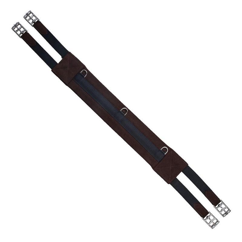 Popręg syntetyczny skokowy prosty Parkur Burton brązowy