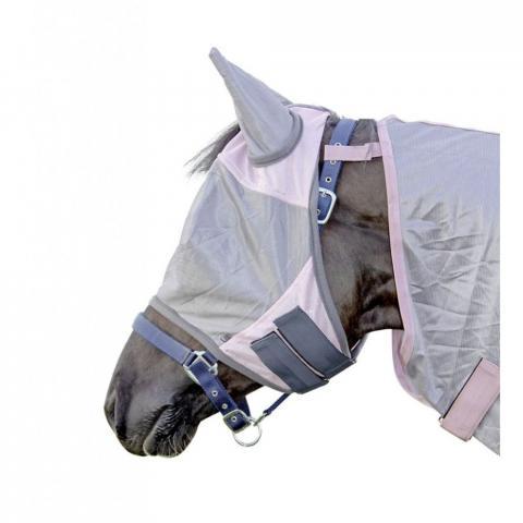 Maska siatkowa HKM różowo szara