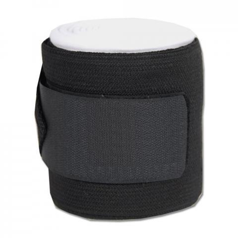 Bandaże z wkładką kocykową czarno-białe