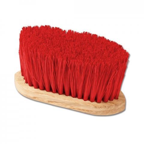 Szczotka długi włos czerwona