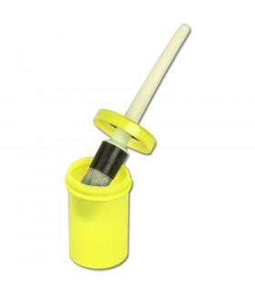 Pędzel w pojemniku duży limonkowy