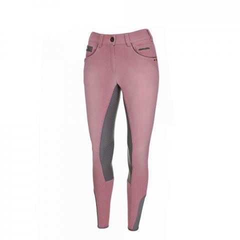 Bryczesy Pikeur Darjeen Jeans Grip różowo-szare 2019