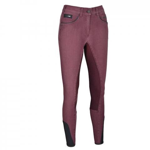 Bryczesy Pikeur Darjeen Jeans Grip jeansowe bordowe 2019