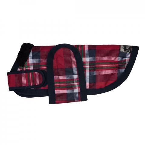 Derka dla psa Eskadron CS Ripstop check red-navy, kratka czerwona SS2013