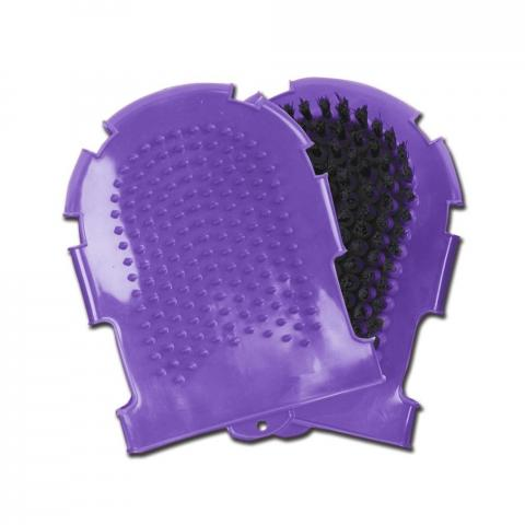 Rękawica do mycia Waldhausen gumowa fioletowa
