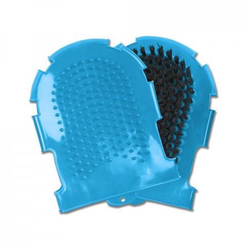 Rękawica do mycia Waldhausen gumowa niebieska