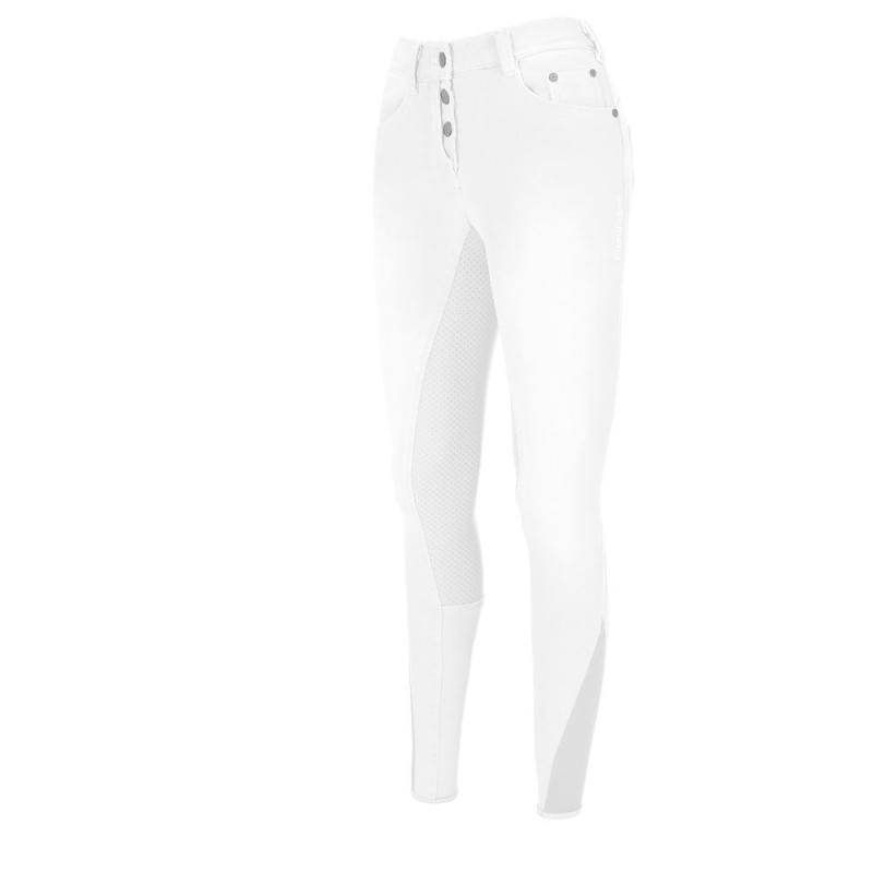 Bryczesy damskie Pikeur Fayenne Grip Jeans Full Patches