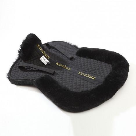 Podkładka futerkowa Kavalkade czarna/futro naturalne czarne
