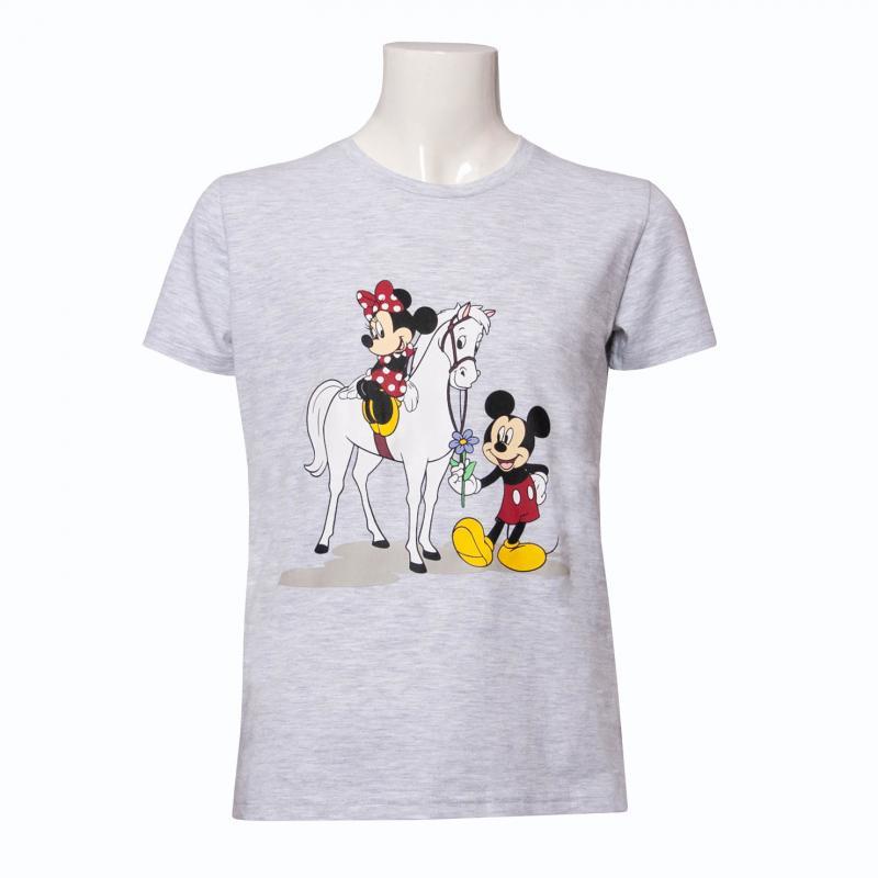 Koszulka młodzieżowa HKM Disney Myszka Miki i Minnie szara