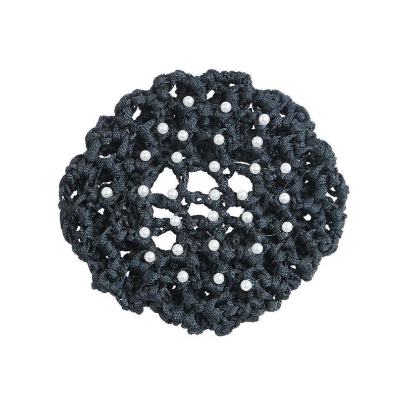 Siatka na włosy Busse Pearl z perełkami czarna