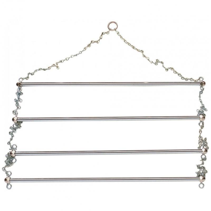 Wieszak drabinkowy Busse srebrny