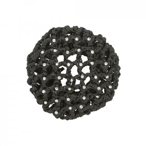 Siatka na włosy Busse Gloss z kryształkami czarna