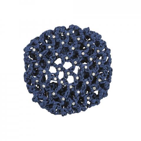 Siatka na włosy Busse Gloss z kryształkami granatowa