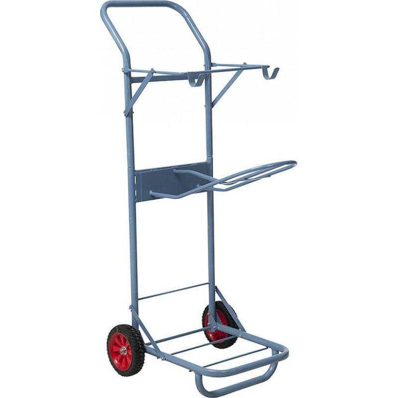 Wózek stajenny Ekkia metalowy błękitny