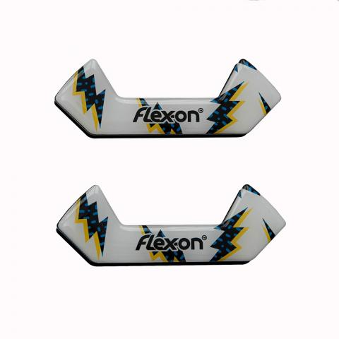 Wkładki magnetyczne do strzemion bezpiecznych Flex-on Flash białe