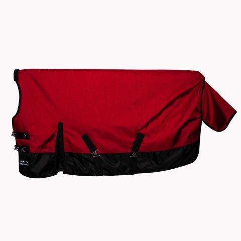 Derka padokowa z kołnierzem HKM 1680D 300gr czerwono-czarna