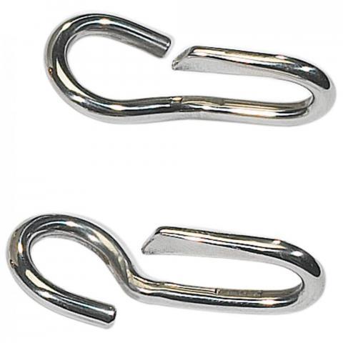 Haczyki do łańcuszka pelhamu lub munsztuka Busse srebrne