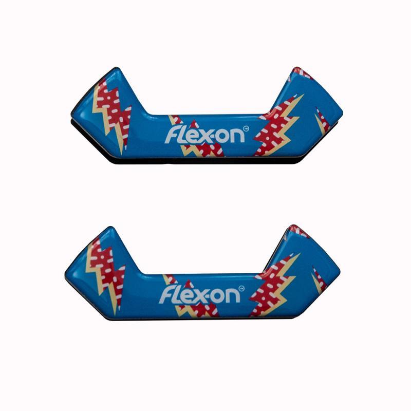 Wkładki magnetyczne do strzemion bezpiecznych Flex-on Flash niebieskie