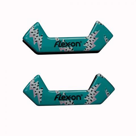 Wkładki magnetyczne do strzemion bezpiecznych Flex-on Flash turkusowe