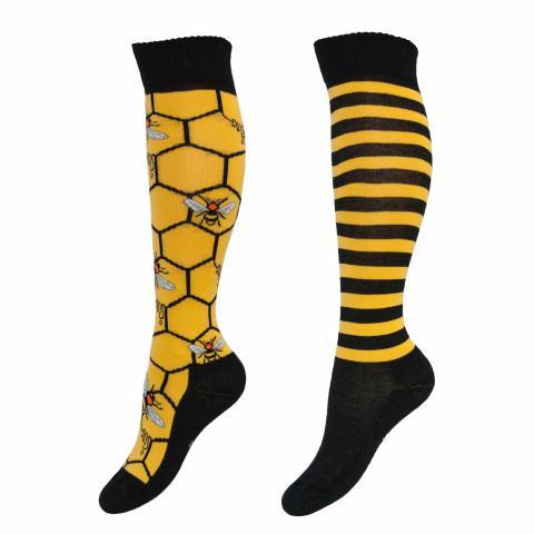 Skarpety Comodo bawełna wzór żółte w pszczoły
