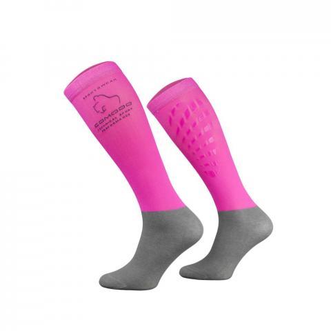 Skarpety Comodo ze silikonem różowe neonowe