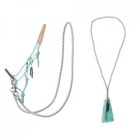 Kantar sznurkowy z wodzami i liną balansową cordeo QHP green, zielony