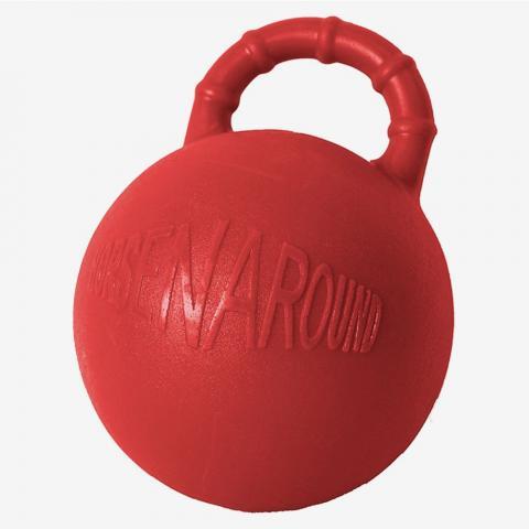Piłka dla konia Horze twarda czerwona