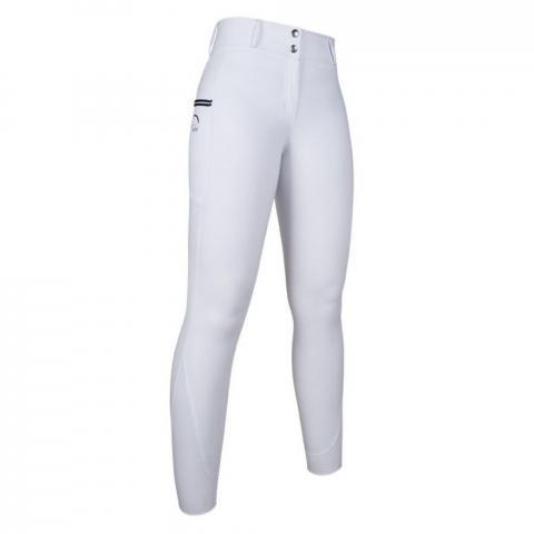 Bryczesy z silikonem HKM Comfort Style białe