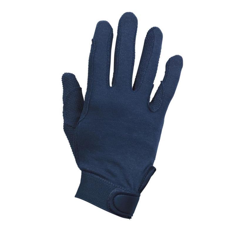 Rękawiczki bawełniane Busse Baumwolle granatowe