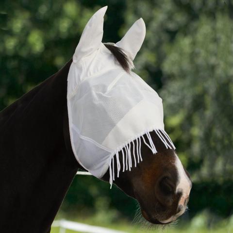 Maska przeciw muchom Kerbl z frędzlami biała