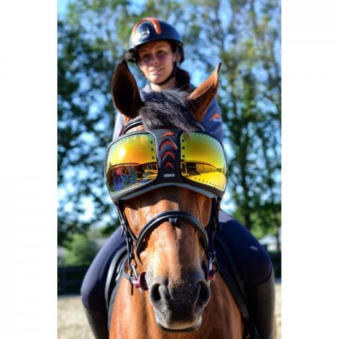 Okulary - gogle dla konia eQuick Evysor żółte