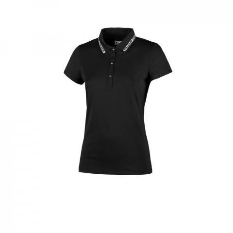 Koszulka damska Pikeur polo Durina czarna 2021