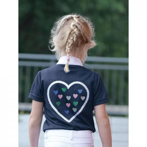 Koszulka konkursowa młodzieżowa Busse Lina z serduszkiem granatowa