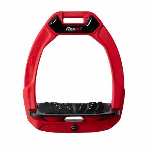 Strzemiona bezpieczne Flex-On z kolcami dorośli czerwono-czarno-czerwone