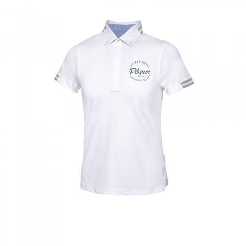 Koszulka konkursowa męska Dario white, biała 2021