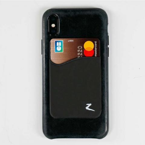 Pokrowiec na karty do telefonu Horze czarny